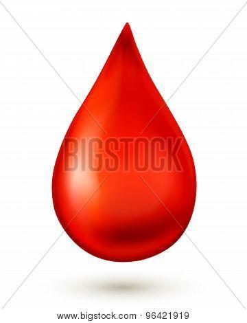 Blood Drop. Vector Illustration