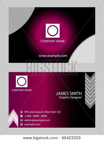 Horizontal Business Card - Horizontal Business card design