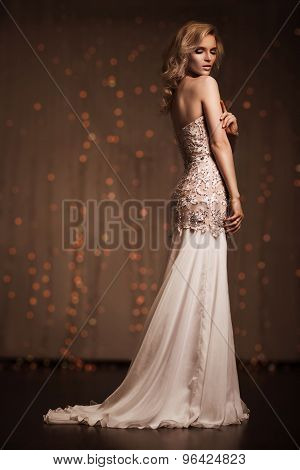 Luxury woman posing