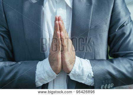 Making Namaste gesture