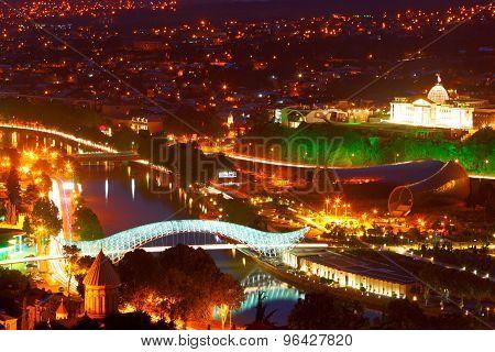 Night Tbilisi. Georgia.