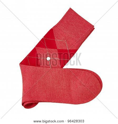 Sock Isolated On White. With A Clipping Path