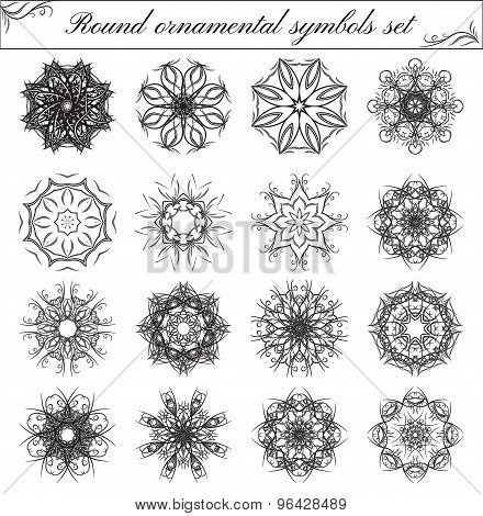 Geometric Circular Ornament Set.
