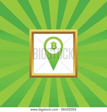 Bitcoin pointer picture icon