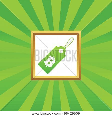 Bitcoin price picture icon