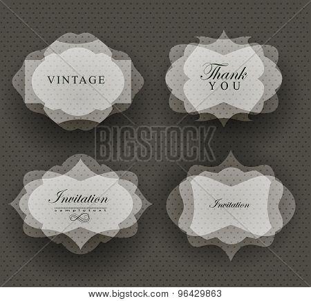 invitation card in retro style.