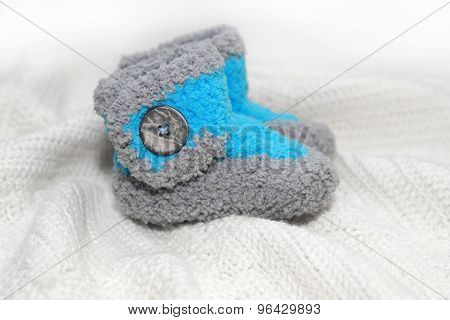 crochet baby boy booties