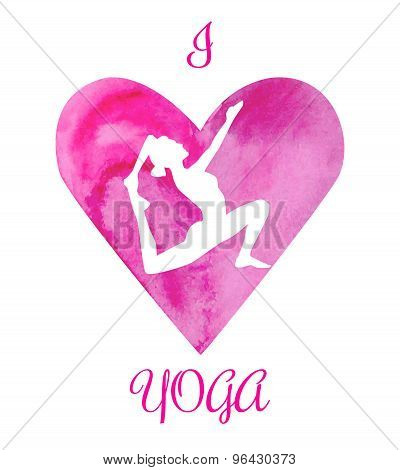 Vector Illustration I Love Yoga