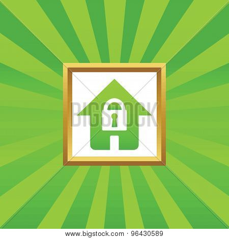 Locked house picture icon
