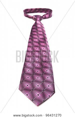 modern pink tie on a white background