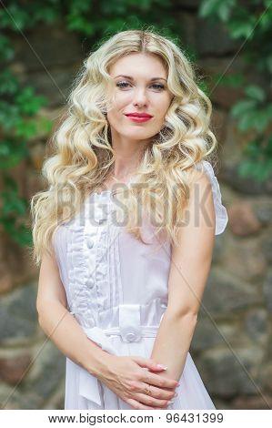 beautiful young blonde woman