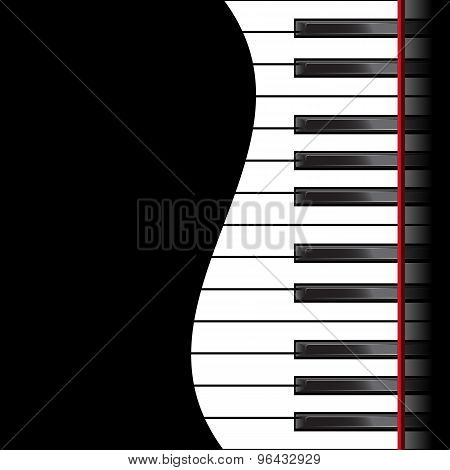 Piano on a black background