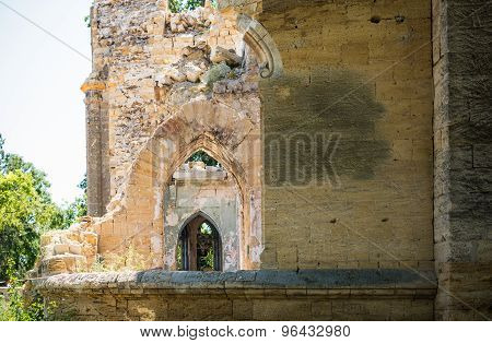 ancient ruined castle