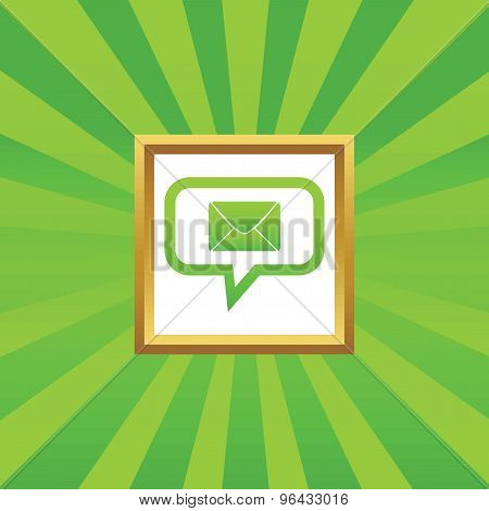 Letter message picture icon