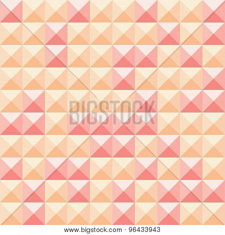 Abstract squares orange and red background