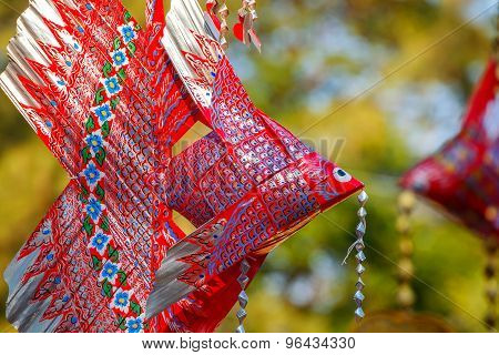 Thai Mobile Fish Made With Palm Leaf