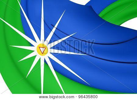 Flag Of The Uberlandia, Brazil.