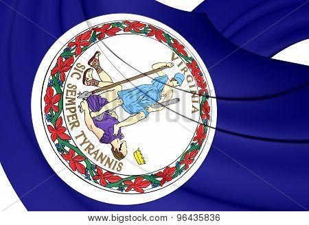 Flag Of Virginia, Usa.