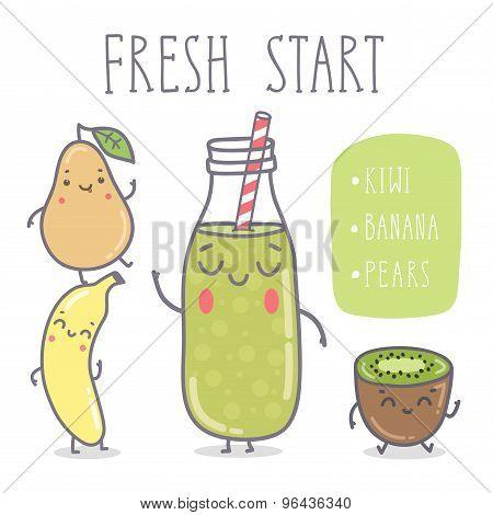 Vector Illustration - Fresh Start