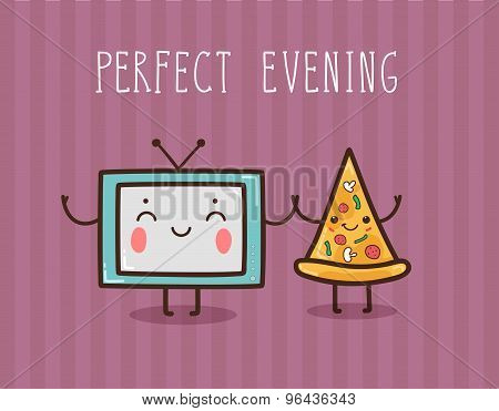 Vector Illustration - Perfect Evening.