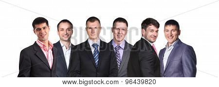 Businesman lineup