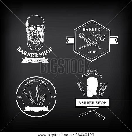 Barber shop labels,vector icons.