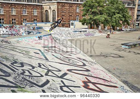 Bmx Biker In Action