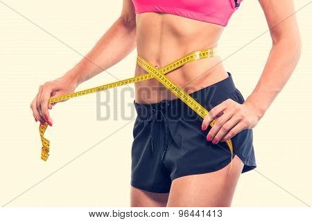 Weight losing - measuring woman's body
