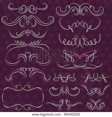 Calligraphy Decorative Borders, Ornamental Rules, Dividers, Vector