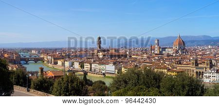 The City Of Florence In Tuscany, Italy