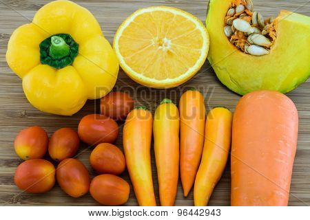 Orange Color Fruits And Vegetables