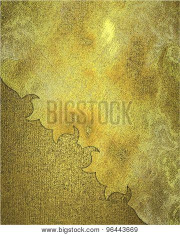 Vintage Golden Metal Background. Design Template. Design For Site