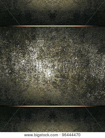 Grunge Label For Text Metal. Design Element. Element For Design. Template For Design.