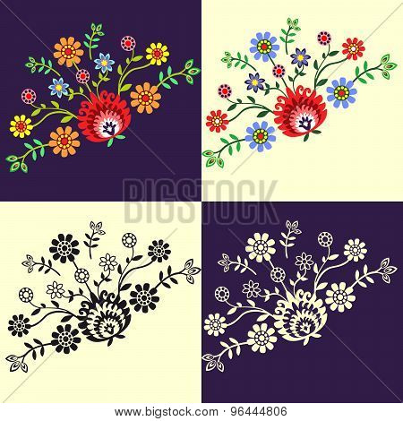 Folk pattern flowers-3