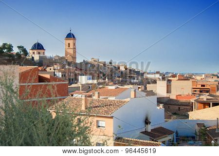 Agost, Spain - July 4, 2015: Panoramic View of authentic spanish town