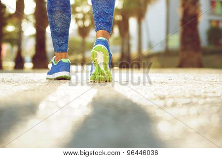 Female Running Shoes From Behind