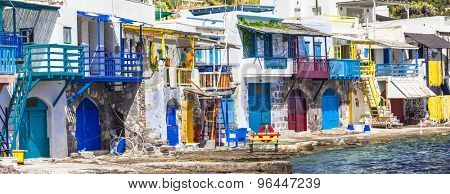 Traditional Greece-  village Klima on Milos island