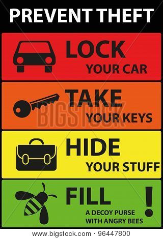 Poster Illustration Graphic Vector Prevent Theft