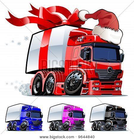 Vector Christmas truck