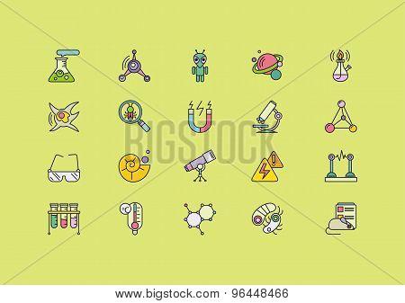 Symbols Sciences Set of Lines Strokes Icons