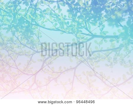 Abstract twigs and leaves background.