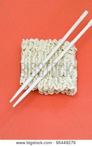 noodles and chopsticks
