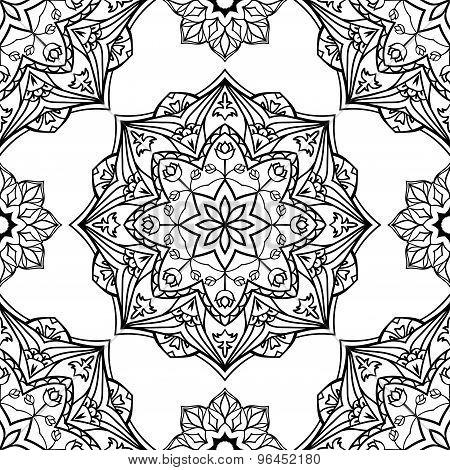 Stylized Floral Ornamental Pattern.