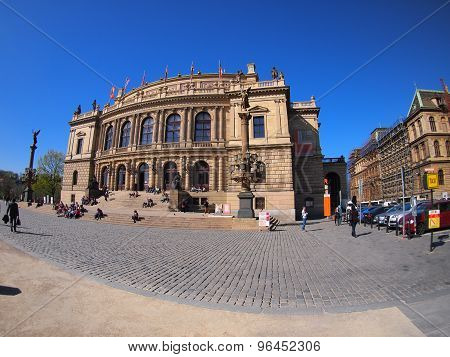 Prague, Czech Republic - April 25, 2015: Rudolfinum