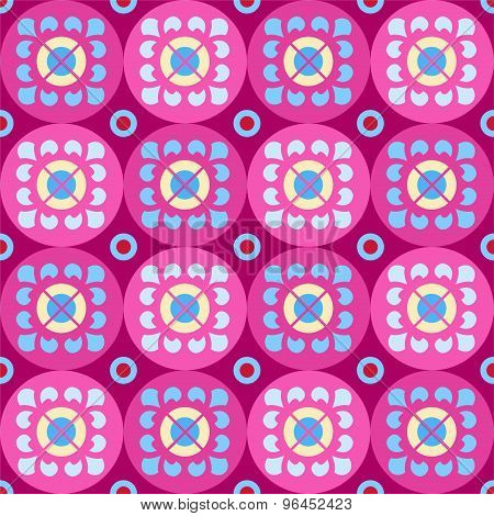Seamless Violet Pattern With ...
