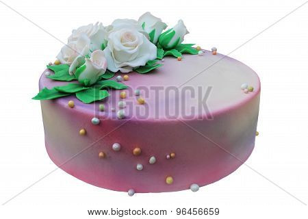 Isolate Cake With Roses