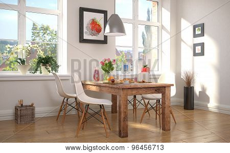 Dining Area With Breakfast
