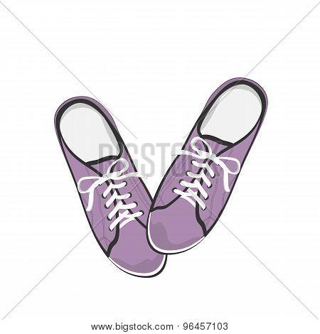 Bright purple sport gumshoes