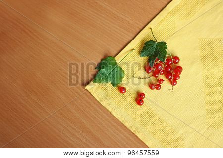Currants On A Napkin