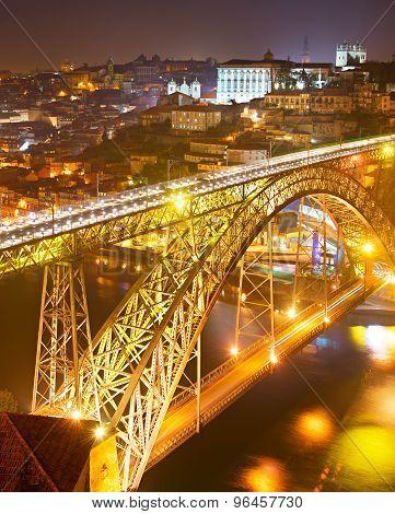 Porto At Night, Portugal